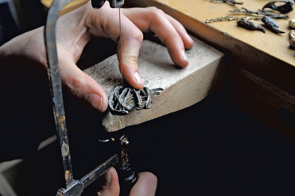 Cleaning a cast piece - SARAH PRIESTAP