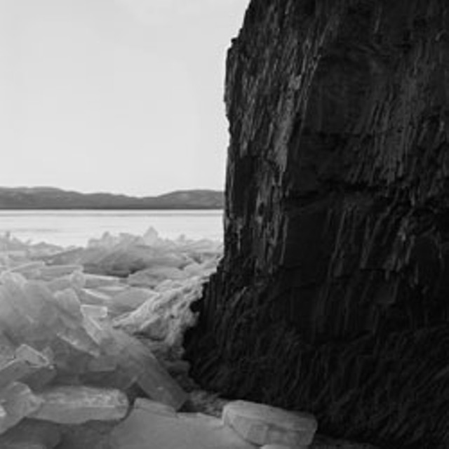 """Cliff and Ice, study 1, Lake Champlain, VT"" by Gary Hall"