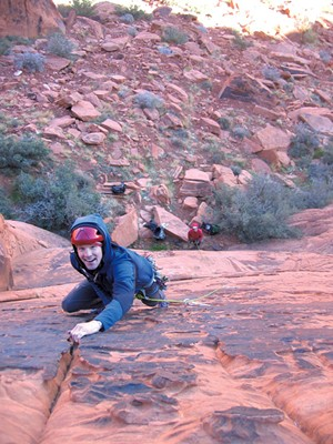 Climbing in Eldorado Canyon, Colorado - COURTESY OF LINDSAY FIXMER