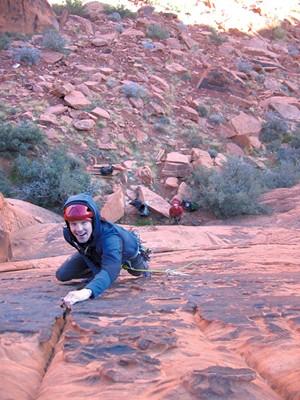 Climbing in Eldorado Canyon, Colorado - COURTESY OF LINDSAY FIXMER