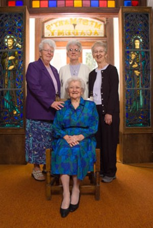MATTHEW THORSEN - Clockwise from left: Sister Lindora Cabral, Sister Janice Ryan, Sister Lucille Bonvouloir, Sister Elizabeth Candon