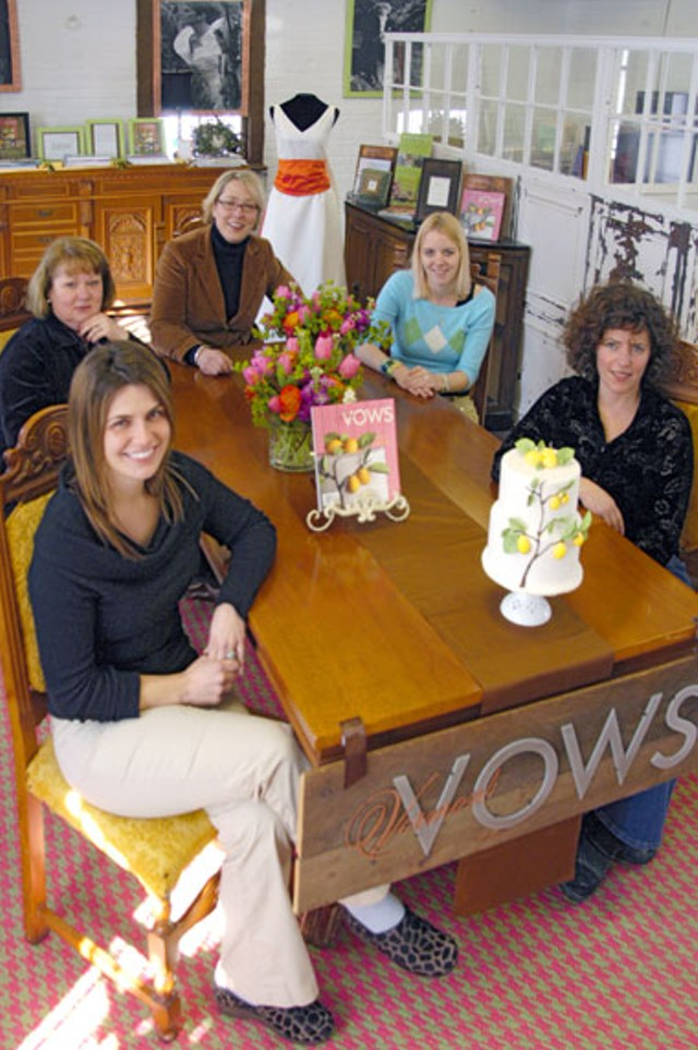 Clockwise From Left: Vows Staffers, Stephanie Cochran, Sally Washburn, Krista Washburn, Erika Hardy And Jan Jacobs - MATTHEW THORSEN