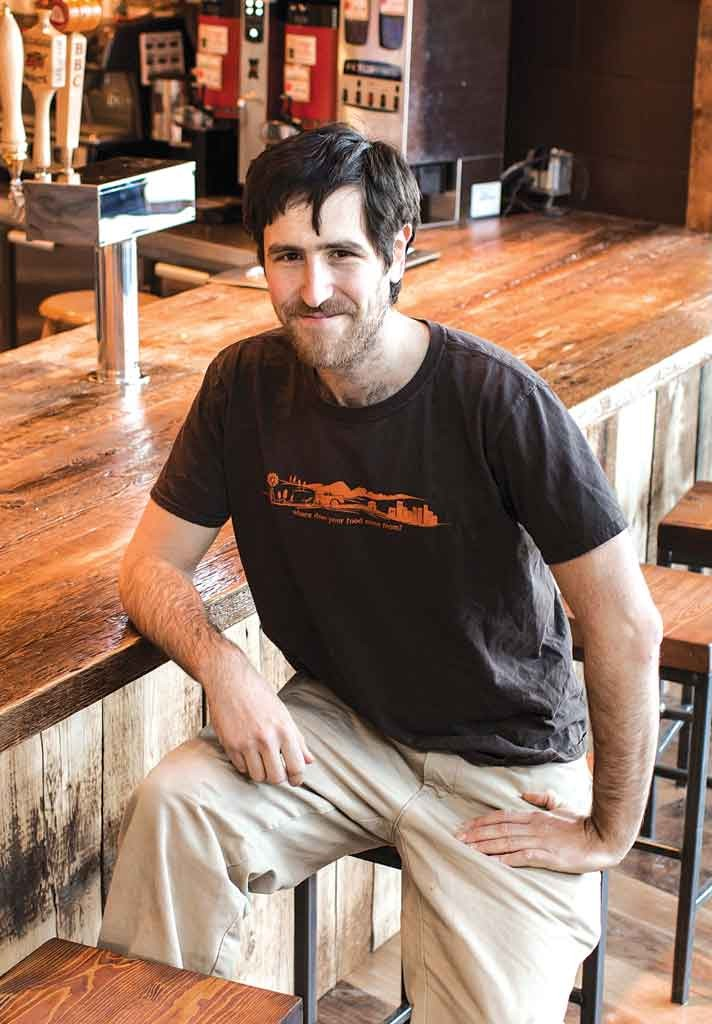 Co-owner Benjy Adler in the new Chubby Muffin café - OLIVER PARINI