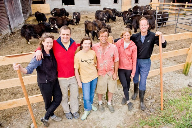 Co-Owners of Vermont Yak Company: (left to right) Susan and Ted Laskaris, Paula and Dave Hartshorn, and Kate and Rob Williams - ANDY DUBACK