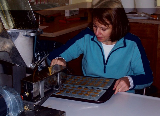 Colleen Palmer making maple candies