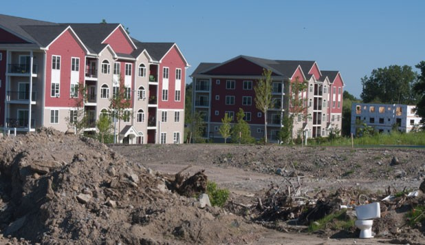 condo development under construction in South Burlington