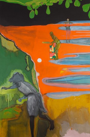 """COURTESY OF MONTREAL MUSEUM OF FINE ARTS - """"Cricket Painting (Paragrand)"""" by Peter Doig"""