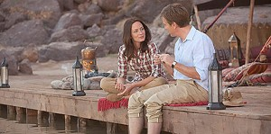CURRENT AFFAIR Blunt and McGregor play a mismatched pair who find love while creating a river in the middle of the desert.