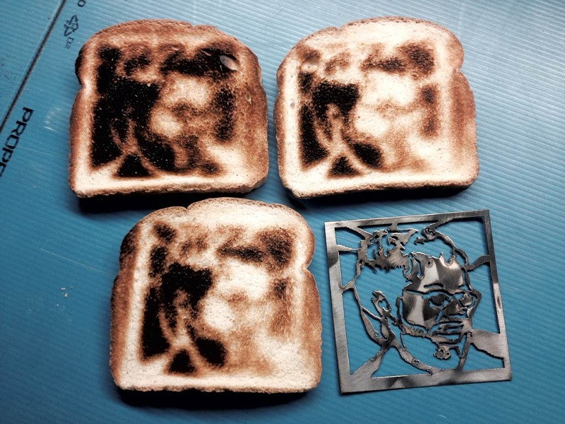 Dan Bolles' selfie toast and stencil