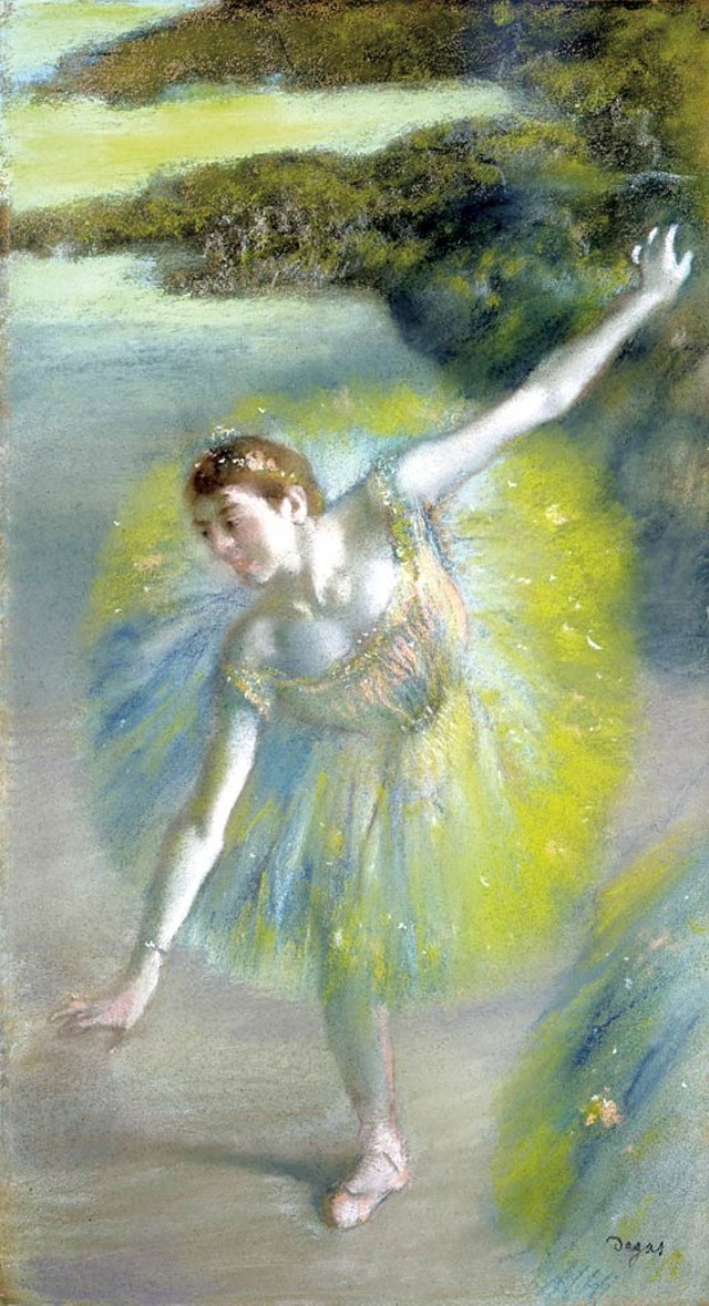 """Dancer in Green"" by Edgar Degas"