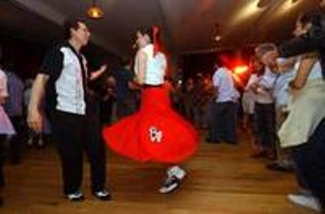 "DANCERS AT THE ""MY PLACE"" SOCK HOP"