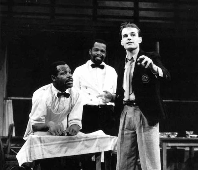 "Danny Glover, Zakes Mokae and Zeljko Ivanek in the 1982 production of ""Master Harold""... and the boys"