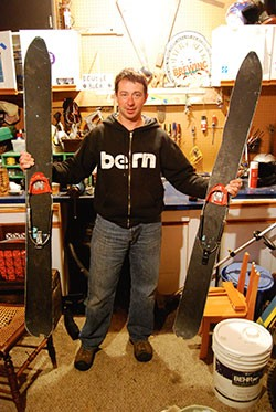 Dave Bouchard displays his junk... boards