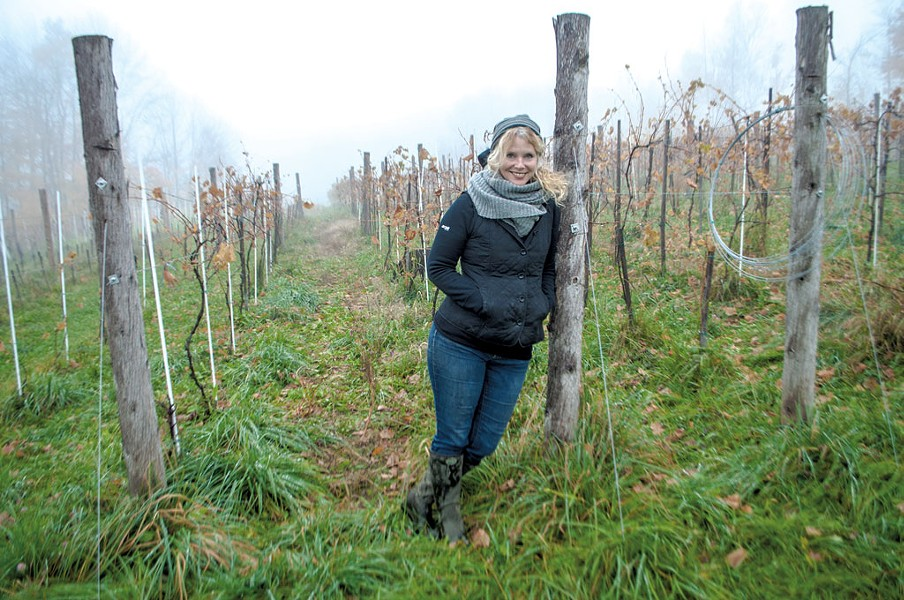 Deirdre Heekin in her Barnard vineyard