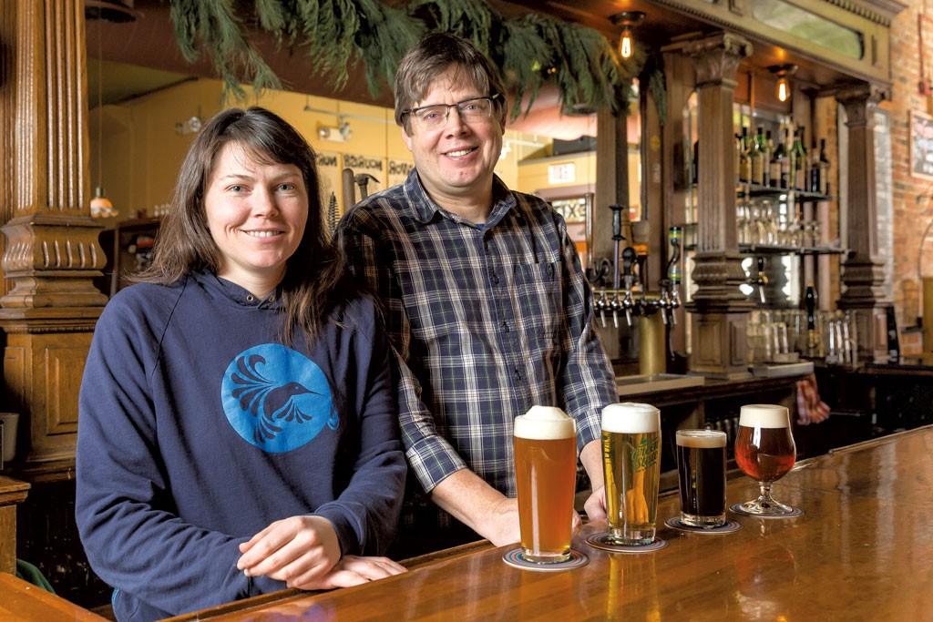 Destiny Saxon and Paul Sayler at - OLIVER PARINI