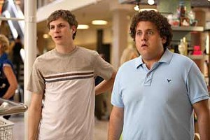 DICKER LICENSE Jonah Hill and Michael Cera make a classic sparring-buddy duo in a comedy that's not afraid to embrace its R rating.