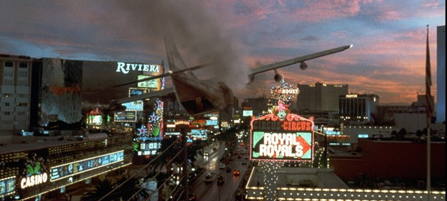 Did I mention that, in Con Air, a plane lands on the Las Vegas Strip? - TOUCHSTONE PICTURES