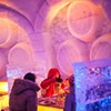 Dining at Montréal's Pommery Ice Restaurant