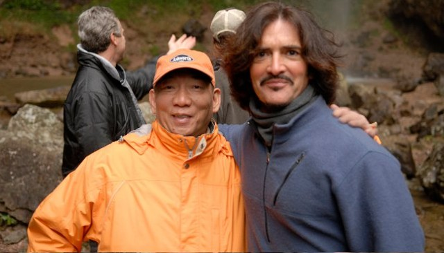 Director Yuen Woo-Ping and writer John Fusco on the set of Crouching Tiger, HIdden Dragon II: The Green Destiny - COURTESY OF JOHN FUSCO