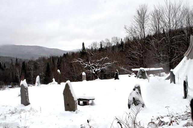 Dreamland's stone circle and sacred apple tree - HANNAH PALMER EGAN