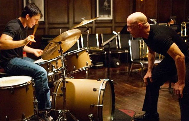 Drum Roles: Teller and Simmons fail to make meaningful, much less beautiful, music together in Chazelle's flummoxing second feature.