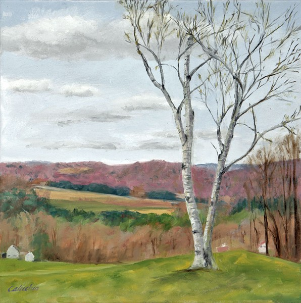 """Early Spring at Gray's Farm"" by Nancy Calicchio - COURTESY OF DAVID SCHUTZ/GOVERNOR'S GALLERY"