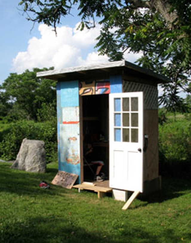 Edward Alonzo's studio shed at the Helen Day Art Center