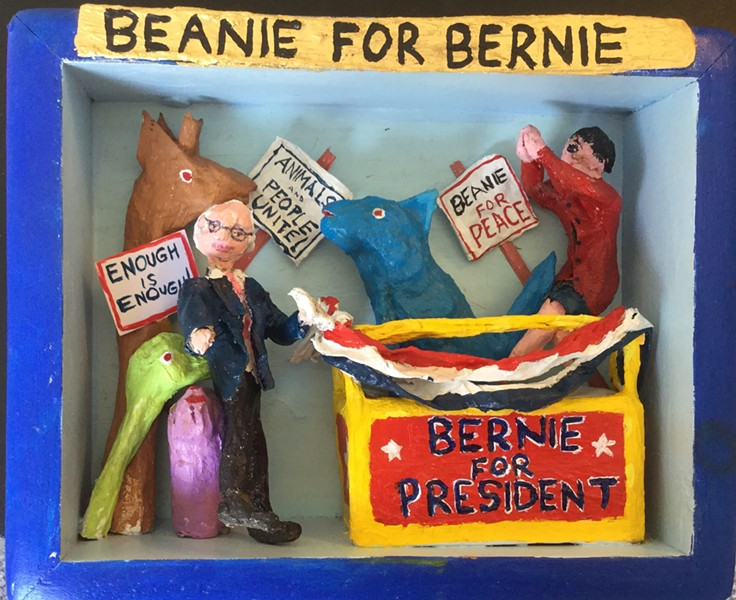"""Beanie for Bernie"" - COURTESY OF DAVID KLEIN"