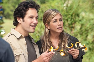 FARTS AND CRAFTS Rudd and Aniston explore the habits of the counterculture in this mild-mannered, R-rated comedy.