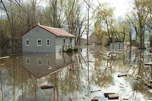 MATTHEW THORSEN - flooding near Lake Champlain