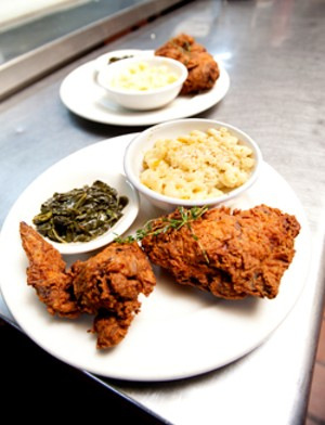 MATTHEW THORSEN - Fried chicken at Nectar's