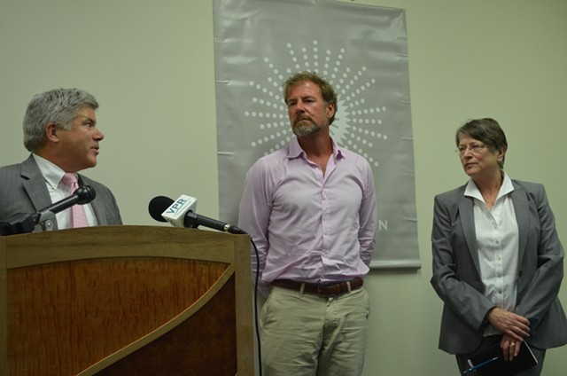 From left, Michael Smith, Yves Bradley and Jane Knodell. - ALICIA FREESE