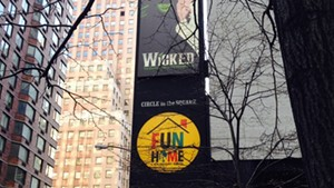 Fun Home on Broadway, right next to another pretty popular musical.