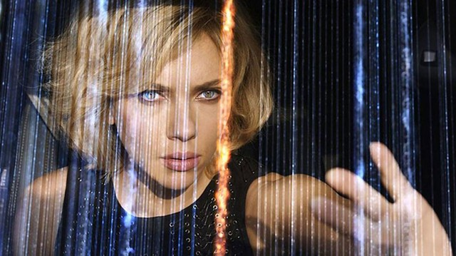 get smart Johansson learns to use 100 percent of her brain in a film that may require only about 30 percent of yours.