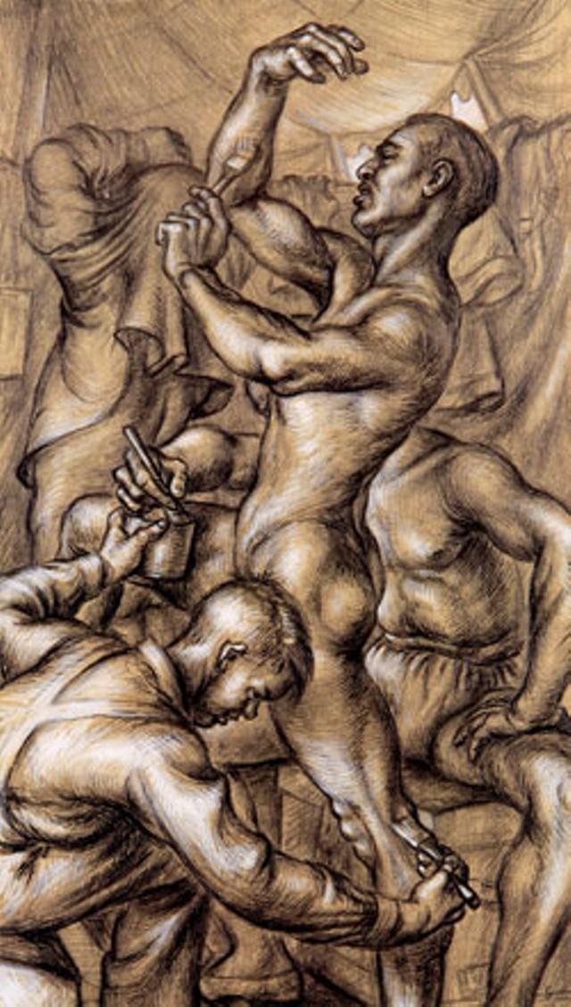 """""""Gilding the Acrobat"""" by Paul Cadmus (detail)"""