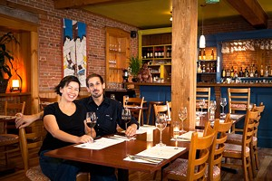 Gina Wou and Tom Rozza at Homei Bistro