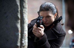 GIRL FIGHT Carano takes aim at action-chick conventions in Soderbergh's thriller.