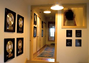 Gold and platinum records at the studio - PHOTOS COURTESY OF WILL ACKERMAN