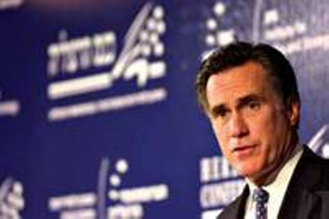 GOP presidential hopeful Mitt Romney