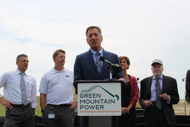 Gov. Peter Shumlin speaking at a press conference Tuesday in Rutland - FILE: PAUL HEINTZ