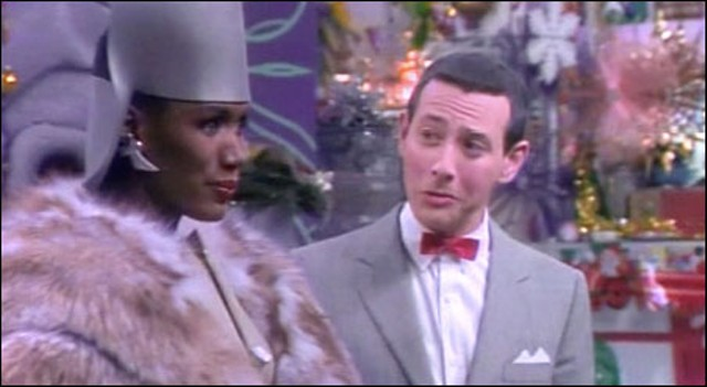 Grace Jones was probably as puzzled by Pee-wee Herman as Pee-wee was of her. - IMAGE ENTERTAINMENT