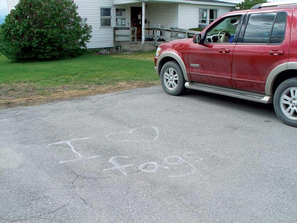 Graffiti on municipal property