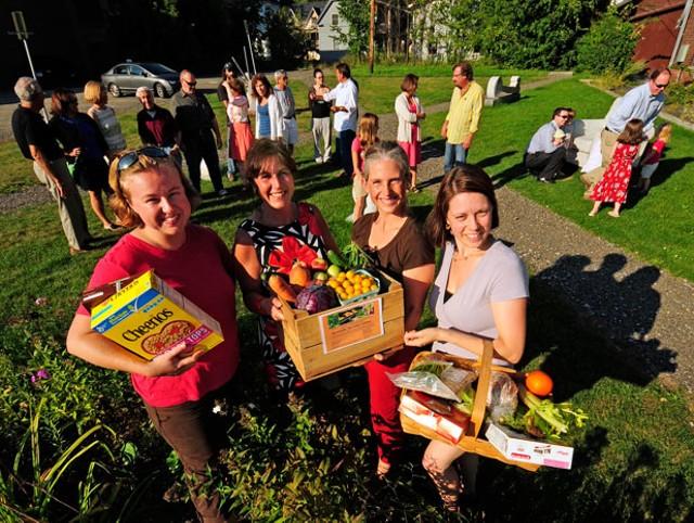 Granite City Co-op board members Hilary Schwoegler, Karen Lauzon, Emily Kaminsky, and Hollie Friot