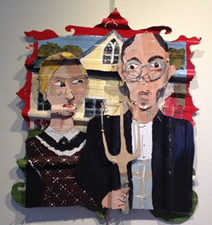 "COURTESY OF VERMONT ARTS COUNCIL - ""Grant Wood's 'American Gothic'"" by Piper Strong"