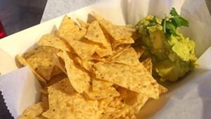 Hand-mashed guacamole