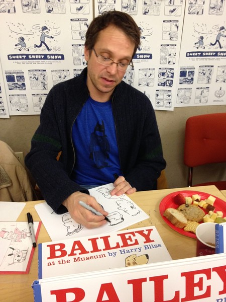 Harry Bliss signing books at the Center for Cartoon Studies last year - COURTESY OF PAMELA POLSTON