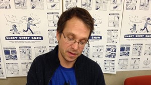Harry Bliss signing books at the Center for Cartoon Studies last year