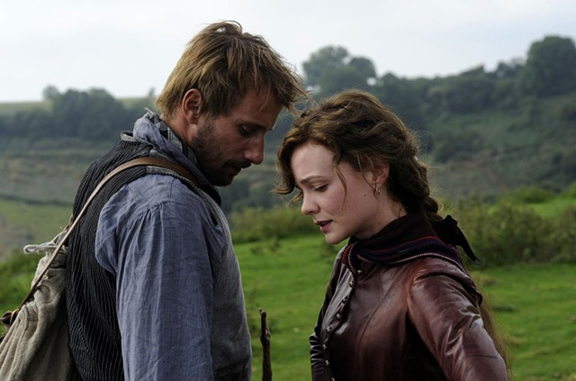 HAY GIRL...: Schoenaerts and Mulligan have countryside chemistry in Vinterberg's Hardy adaptation.