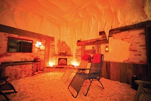 Himalayan salt cave at Pyramid Holistic Wellness Center