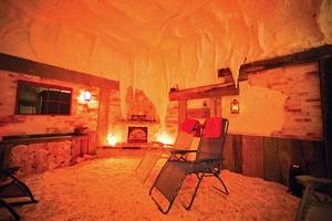 Himalayan salt cave at Pyramid Holistic Wellness Center